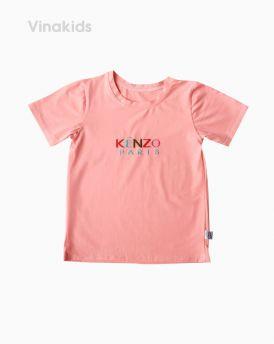 Áo thun bé gái ngắn tay Kenzo màu hồng (1-6 tuổi)