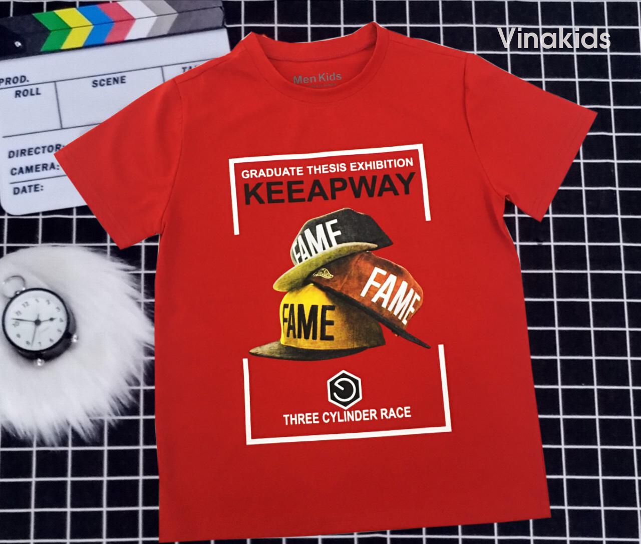 Áo thun bé trai Keeapway màu đỏ (25-45)