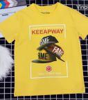 Áo thun bé trai Keeapway màu vàng (25-45)