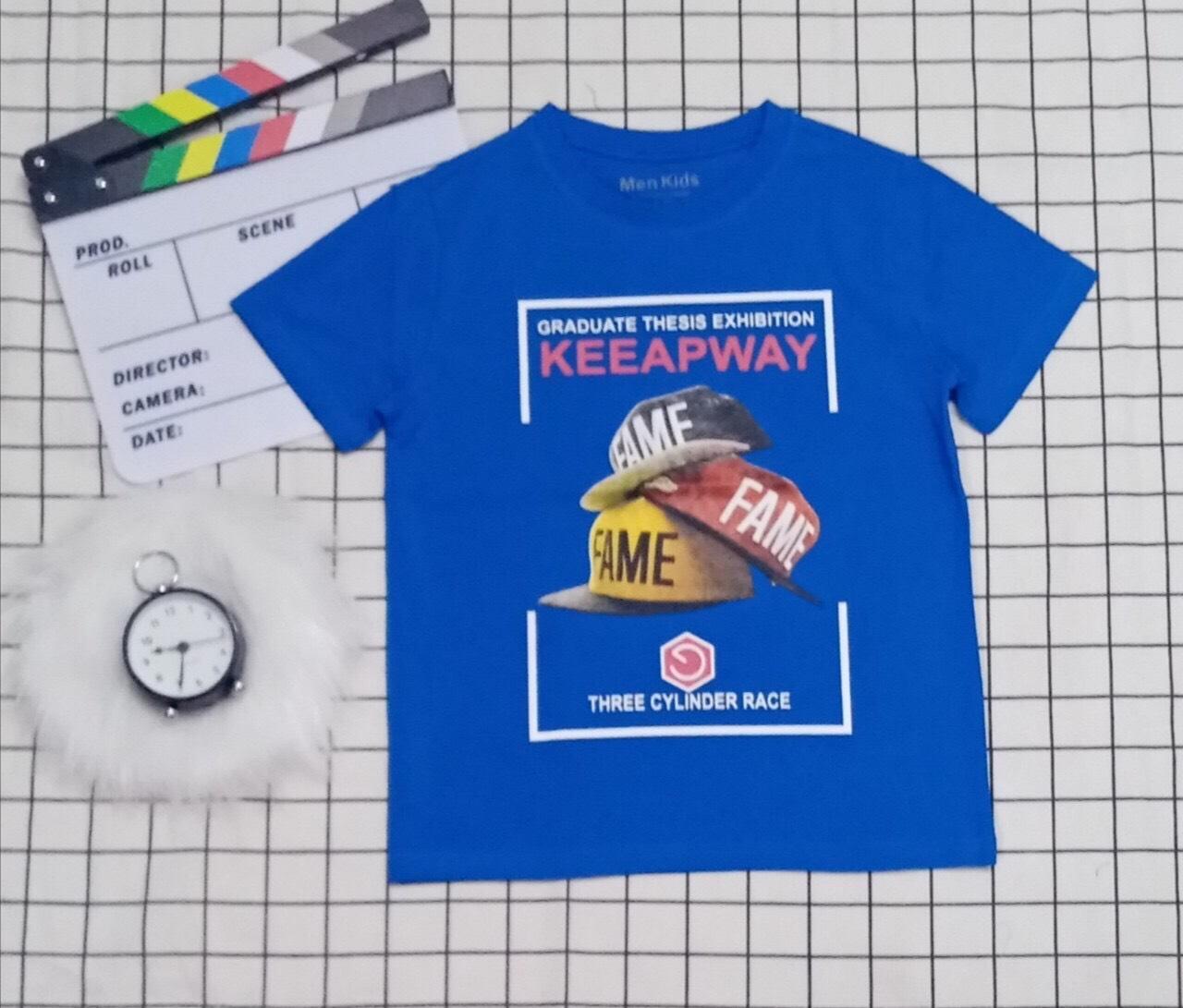 Áo thun bé trai Keeapway màu xanh (25-45)