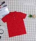 Áo thun bé trai cổ bẻ màu đỏ (10-21kg)