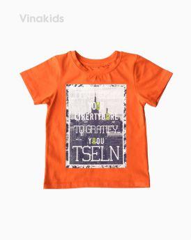 Áo thun cotton bé trai ngắn tay TSELN màu cam (1-7 tuổi)