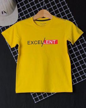 Áo thun cotton bé trai EX màu vàng cỡ 25kg - 45kg