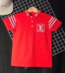 Áo thun cotton bé trai LV màu đỏ ( 25kg-45kg)