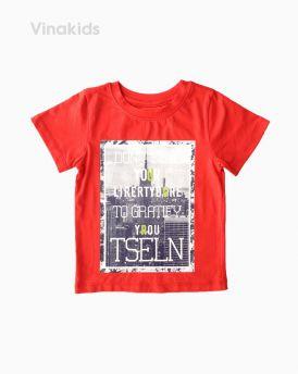 Áo thun cotton bé trai ngắn tay TSELN màu đỏ (1-7 tuổi)