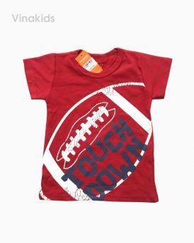 Áo thun cotton ngắn tay bé trai màu đỏ (1-7 tuổi)