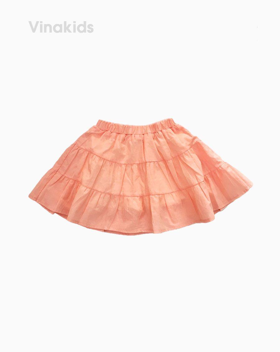 Chân váy bé gái 3 tầng màu hồng ( 7-11 Tuổi)