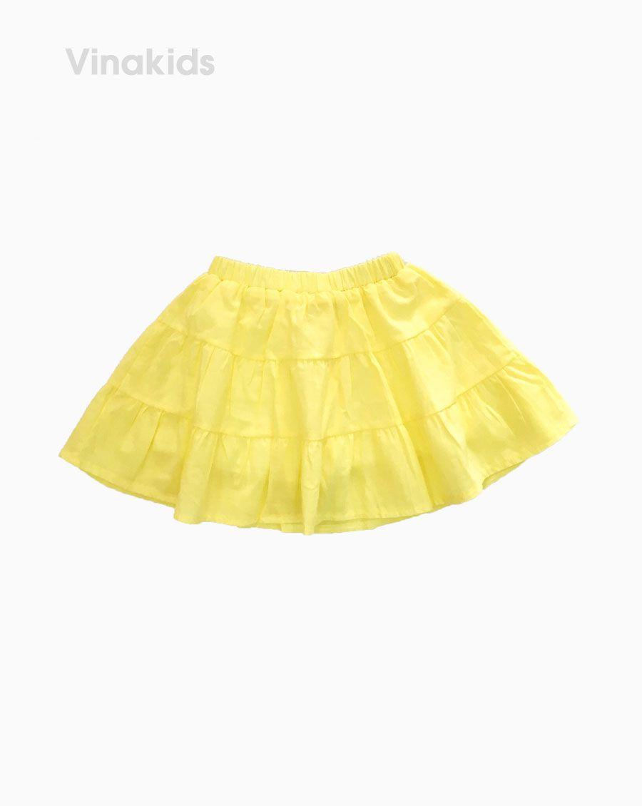 Chân váy bé gái 3 tầng màu vàng( 7-11 Tuổi)