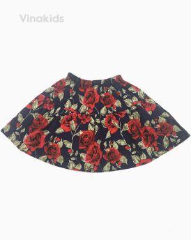 Chân váy bé gái hình hoa đỏ kèm quần (2-8 tuổi)