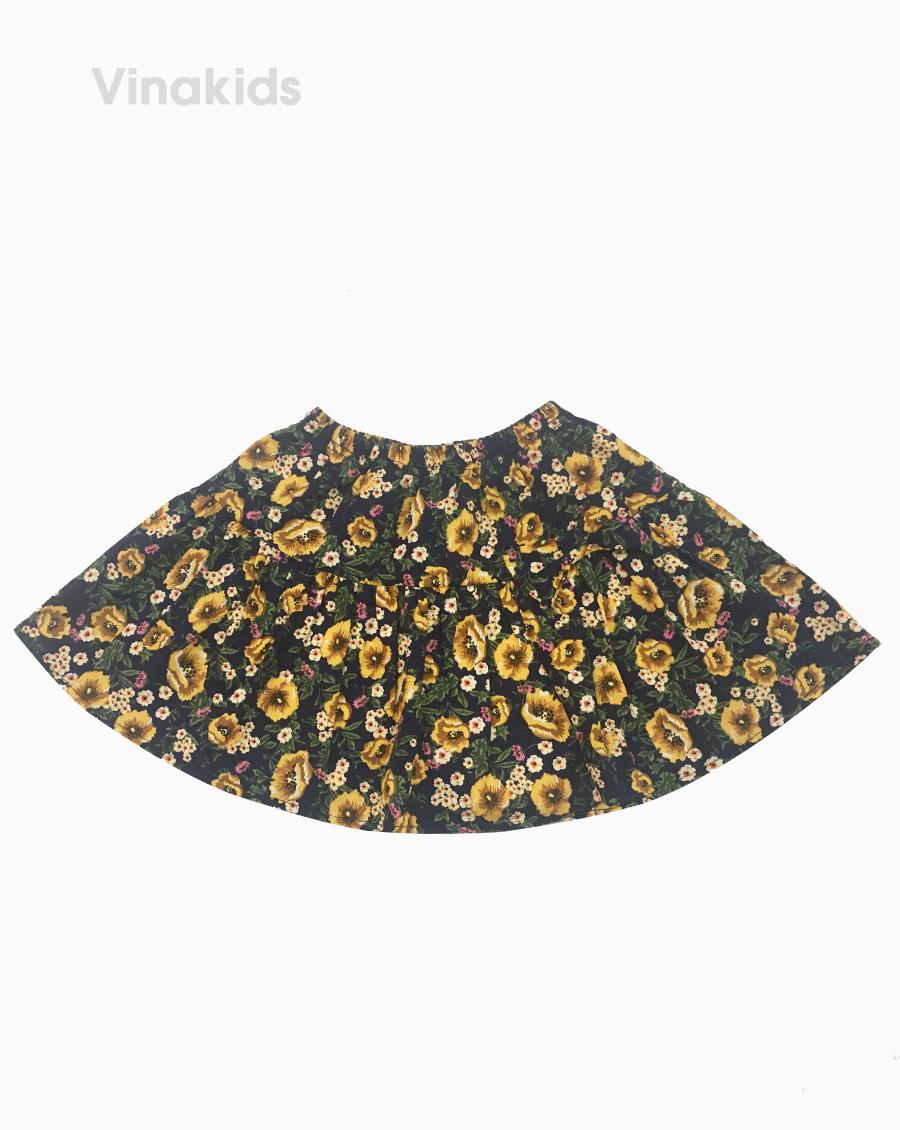Chân váy bé gái hình hoa vàng kèm quần (2-8 tuổi)