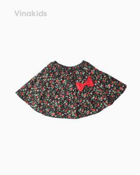 Chân váy bé gái hoa nơ màu đỏ (1-5 tuổi)