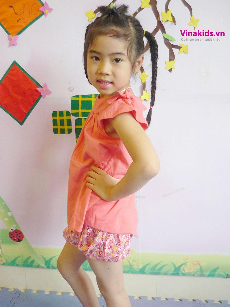 Đồ bộ Váy áo bé gái có nơ mầu hồng