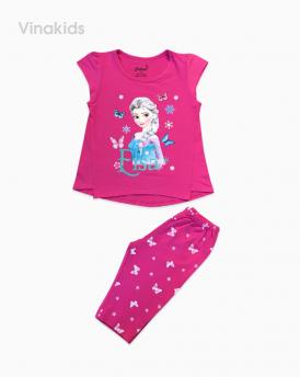 Đồ bộ bé gái Elsa màu hồng đậm