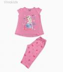 Đồ bộ bé gái Elsa màu hồng phấn
