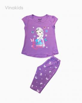 Đồ bộ bé gái Elsa màu tím