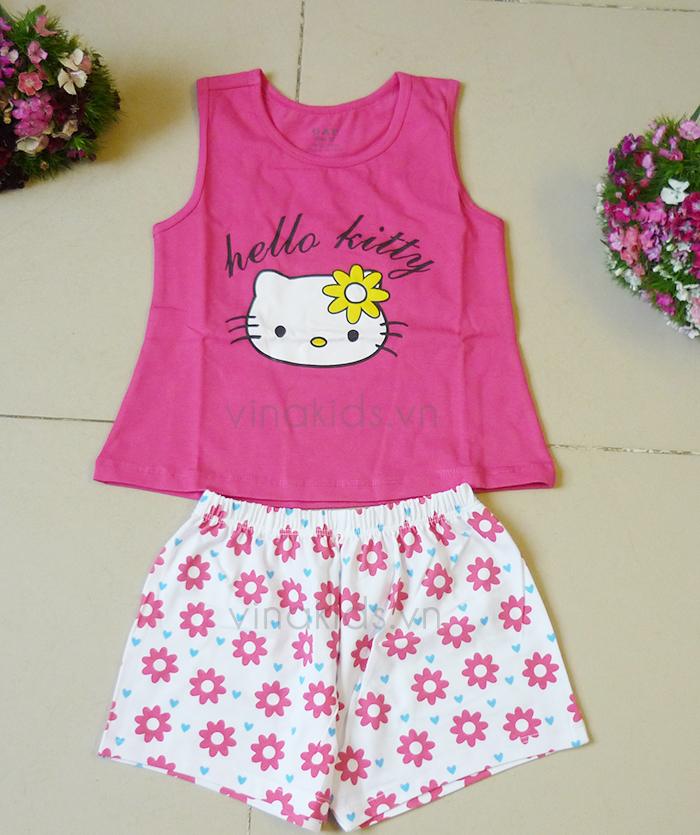 Đồ bộ bé gái Hello Kitty GAP màu hồng