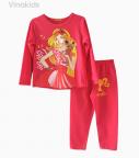 Đồ bộ bé gái barbie màu hồng đào size đại