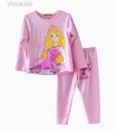 Đồ bộ bé gái barbie màu hồng phấn size đại