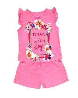 Đồ bộ bé gái cánh tiên TODAY màu hồng (1-6 Tuổi)