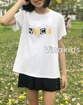 Đồ bộ bé gái dáng thể thao Nice màu trắng (10-15 tuổi)