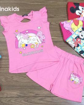 Đồ bộ bé gái hình Pony màu hồng (6-10 tuổi)