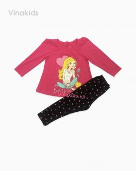 Đồ bộ bé gái in Barbie màu hồng sen