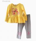 Đồ bộ bé gái in hình bướm màu vàng (9-14 Tuổi)
