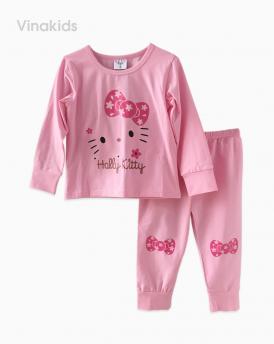 Đồ bộ bé gái in hình kitty màu hồng phấn (1-8 Tuổi)