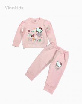 Đồ bộ bé gái in kitty hồng phấn
