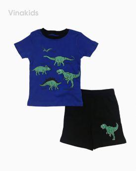 Đồ bộ bé trai khủng long màu xanh (2-6 tuổi)