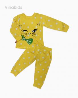 Đồ bộ bé gái mèo màu vàng