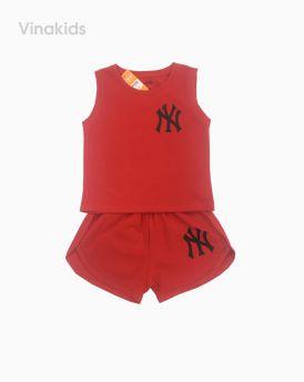 Đồ bộ bé gái ny màu đỏ cho bé 8 -12 tuổi (21-30kg)