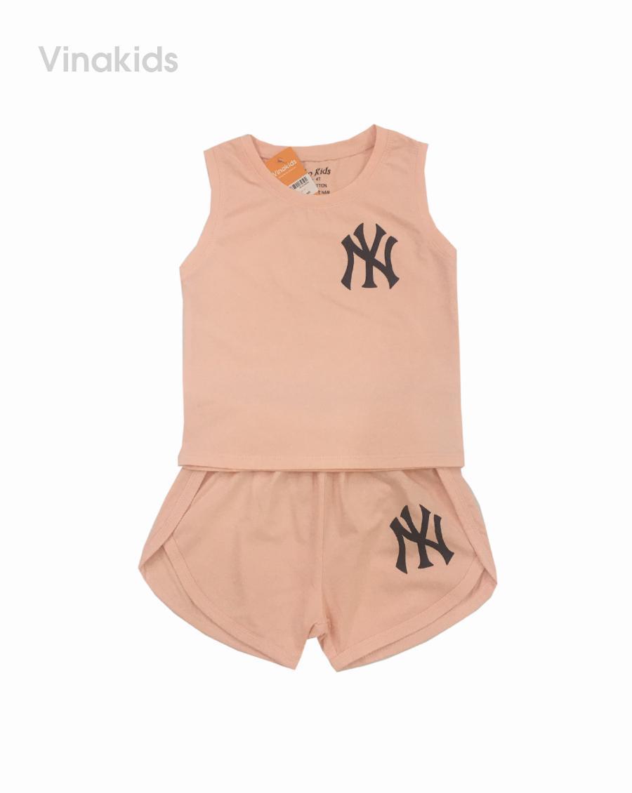 Đồ bộ bé gái ny màu hồng cho bé 1-7 tuổi (8-20kg)