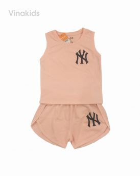 Đồ bộ bé gái ny màu hồng cho bé 8-12 tuổi (21-30kg)