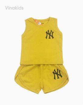 Đồ bộ bé gái ny màu vàng cho bé 1-7 tuổi (8-20kg)