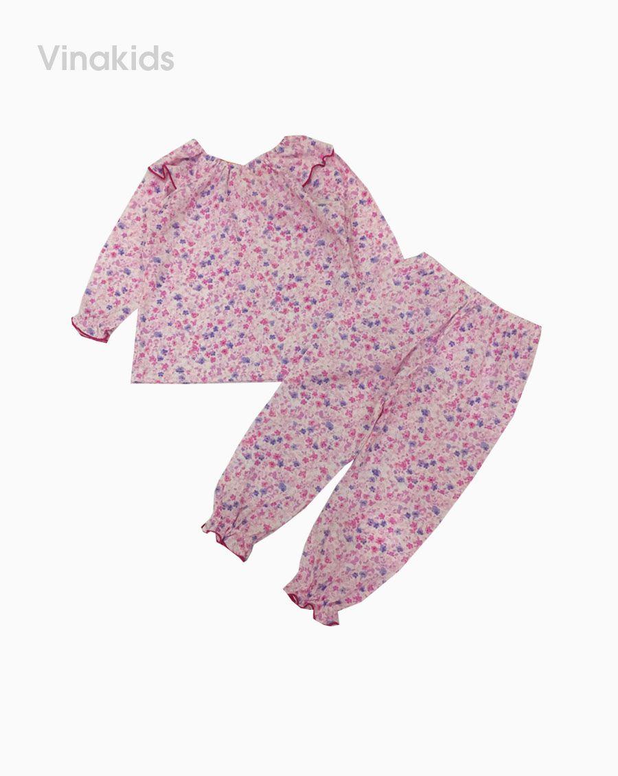 Đồ bộ bé gái xuất xịn hoa tím  1-6 tuổi