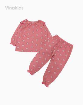 Đồ bộ bé gái xuất xin màu hồng (1-6 tuổi)