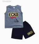 Đồ bộ bé trai Ecko màu xám size đại