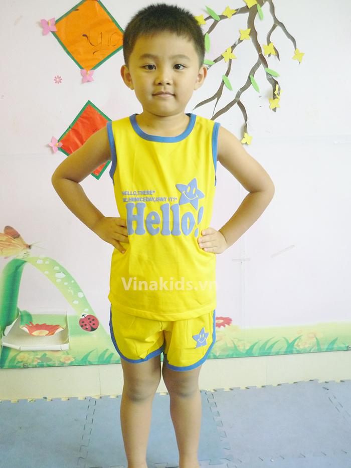 Đồ bộ bé trai Hello Gap màu vàng