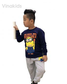 Đồ bộ bé trai Minions màu tím than (1-7 tuổi)