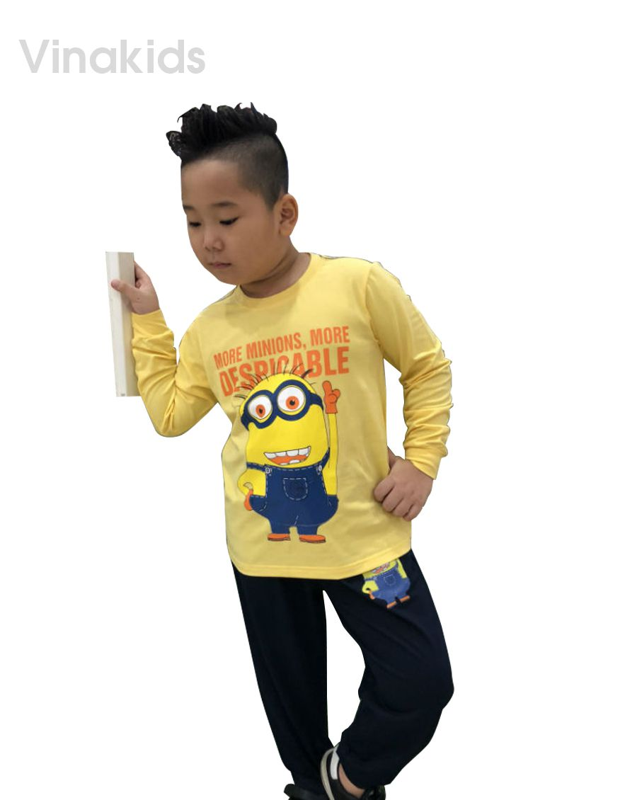 Đồ bộ bé trai Minions màu vàng (8-12 tuổi)