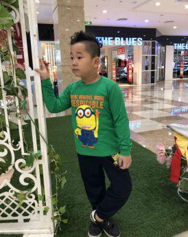 Đồ bộ bé trai Minions màu xanh lá (8-12 tuổi)