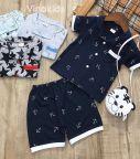 Đồ bộ bé trai Pijama màu tím than (1-5 tuổi)