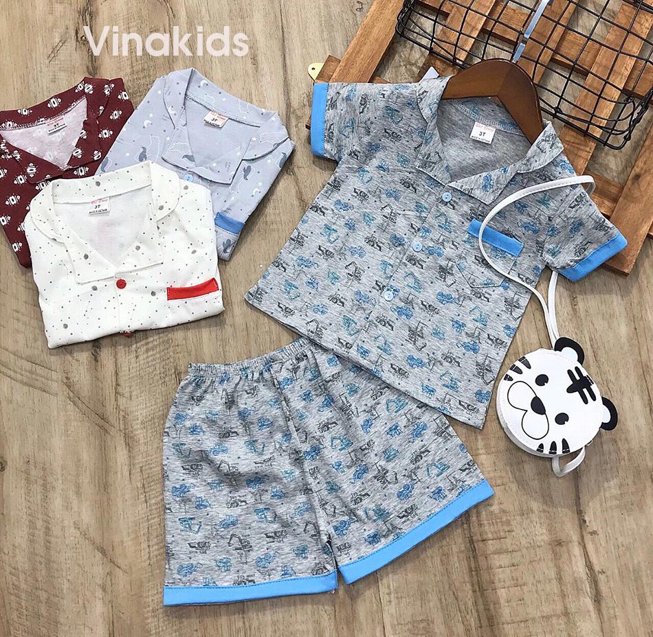 Đồ bộ bé trai Pijama màu xám (1-5 tuổi)