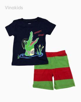 Đồ bộ bé trai borip cá sấu màu tím than (2-6 tuổi)
