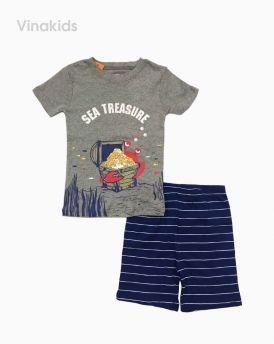 Đồ bộ bé trai borip màu ghi (2-6 tuổi)