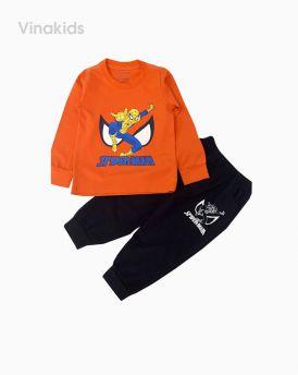 Đồ bộ bé trai dài tay siêu nhân spiderman màu cam (1-7 tuổi)
