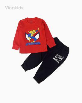 Đồ bộ bé trai dài tay siêu nhân spiderman màu đỏ (1-7 tuổi)