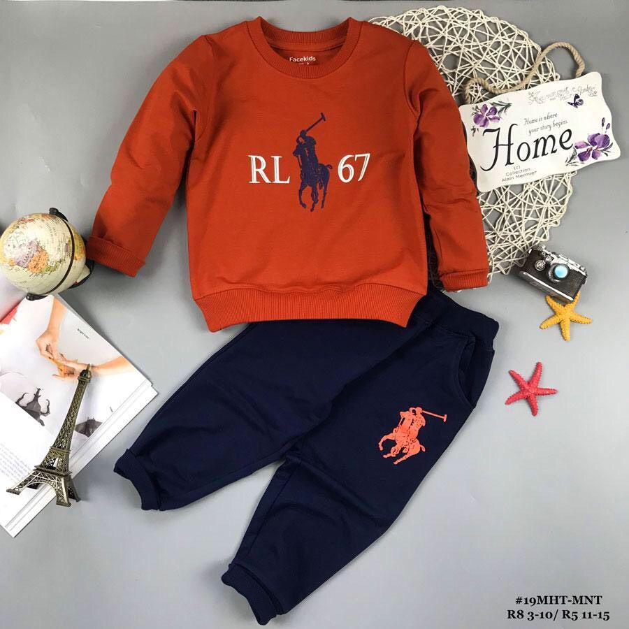 Đồ bộ bé trai dáng thể thao RL67 màu cam (9-14tuổi)