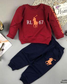Đồ bộ bé trai dáng thể thao RL67 màu đỏ (9-14tuổi)